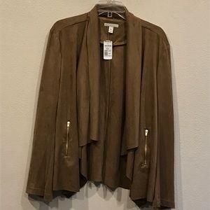 Tan Faux Suede Jacket